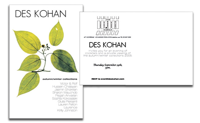Des Kohan: event invitation
