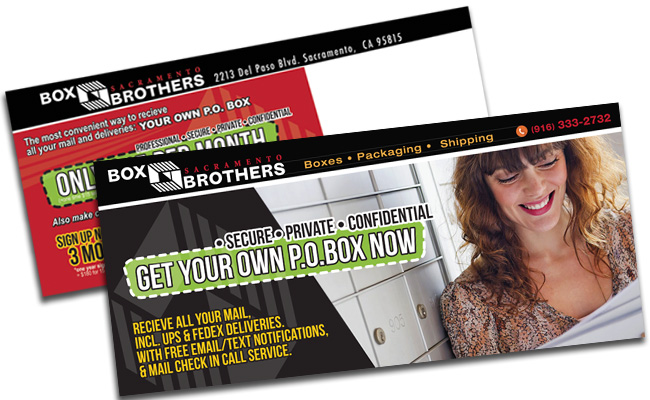 Box Brothers: direct mail piece