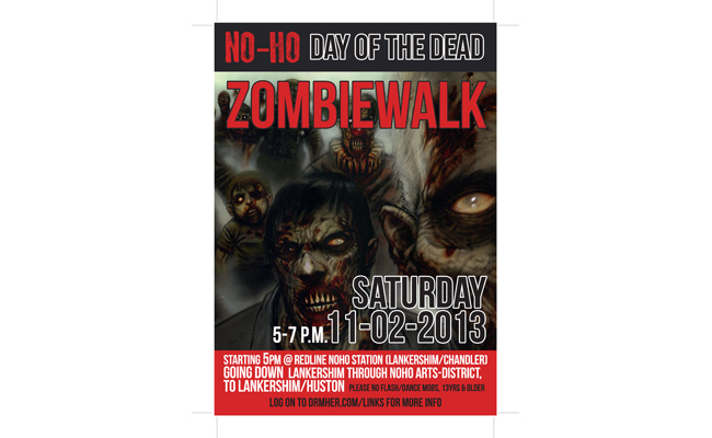 Zombie-walk event poster