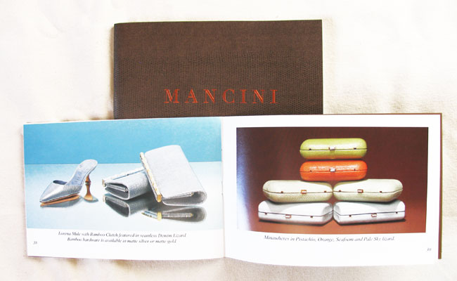 Mancini: catalog design and print production